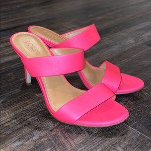 J. Crew hot pink heels size 7 never worn